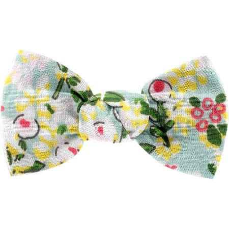 Small bow hair slide menthol berry