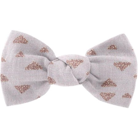 Small bow hair slide triangle cuivré gris