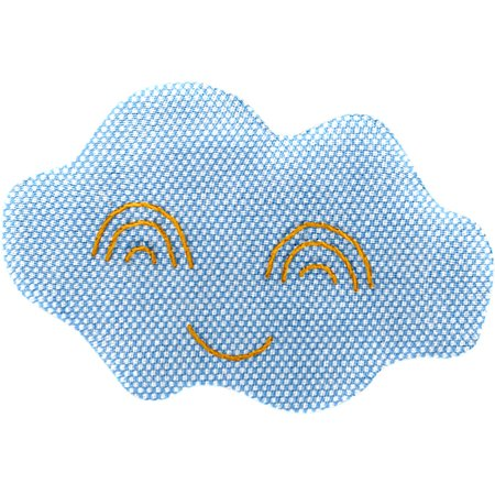 Barrette nuage oxford ciel