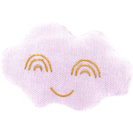 Cloud hair-clips light pink