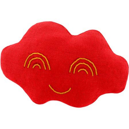 Barrette nuage rouge tangerine