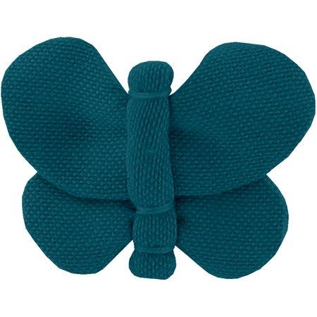 Barrette petit papillon bleu vert