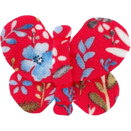 Butterfly hair clip cherry cornflower