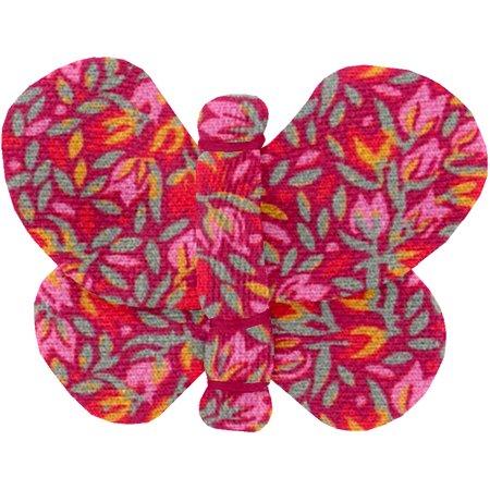 Barrette petit papillon crocus groseille