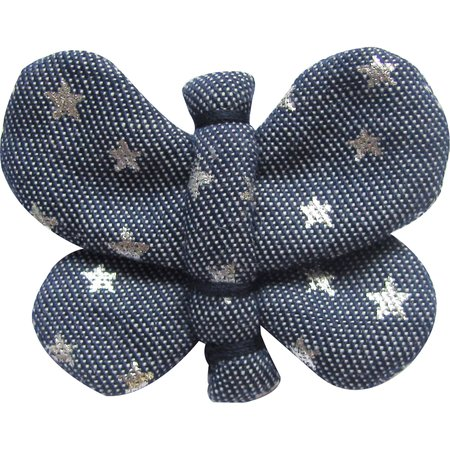 Butterfly hair clip etoile argent jean