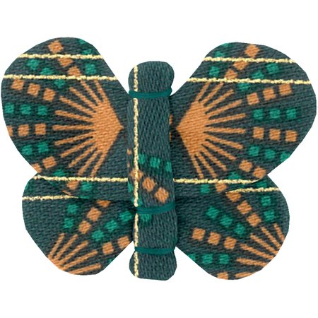 Butterfly hair clip eventail or vert