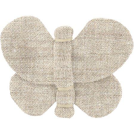 Barrette petit papillon  lin pailleté