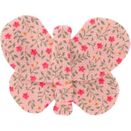Barrette petit papillon mini fleur rose