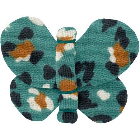 Pasadores de mariposa pantera de jade
