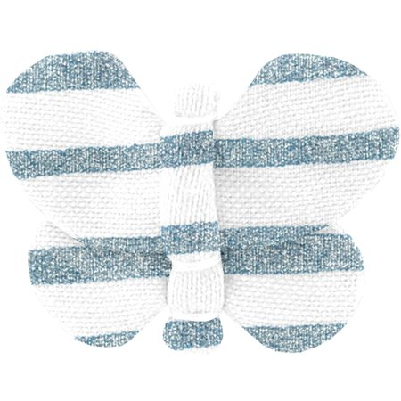 Butterfly hair clip striped blue gray glitter