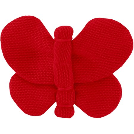 Butterfly hair clip  red