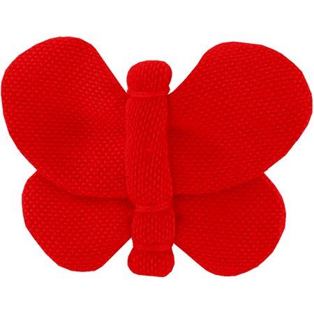 Barrette petit papillon rouge tangerine