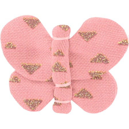 Barrette petit papillon triangle or poudré