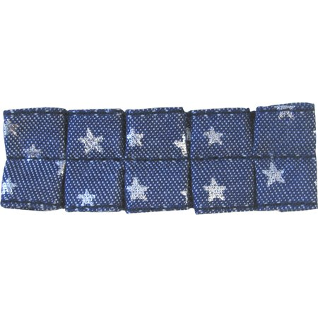 Petite barrette plissée etoile argent jean