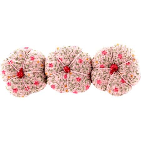 Barrette potiron mini fleur rose