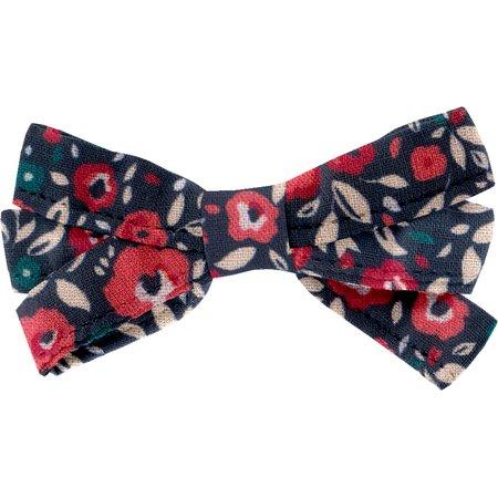 Ribbon bow hair slide camelias rubis