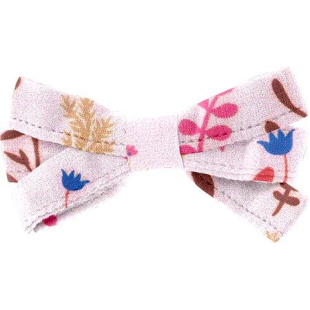 Ribbon bow hair slide herbier rose