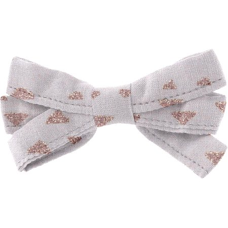 Ribbon bow hair slide triangle cuivré gris