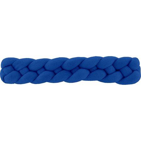 Barrette cheveux tressée bleu navy