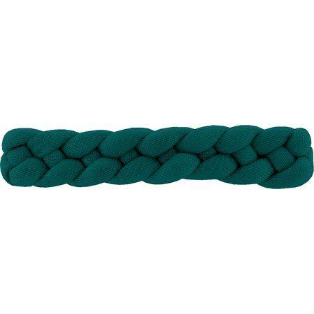 Plait hair slide emerald green