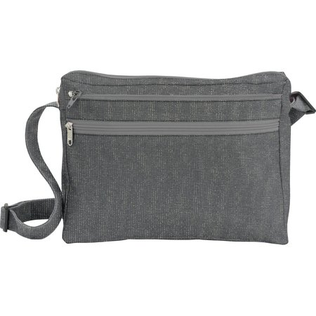 Base of satchel bag silver gray