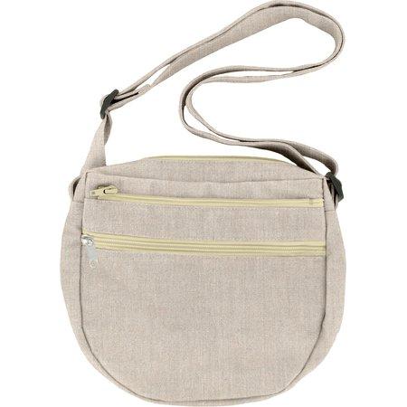 Base sac petite besace lin argenté