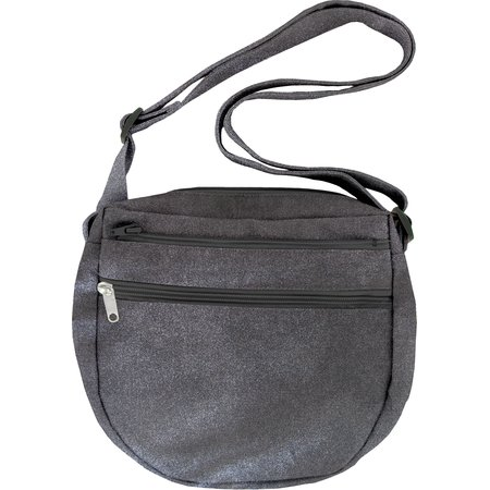 Base of small saddle bag suédine noire