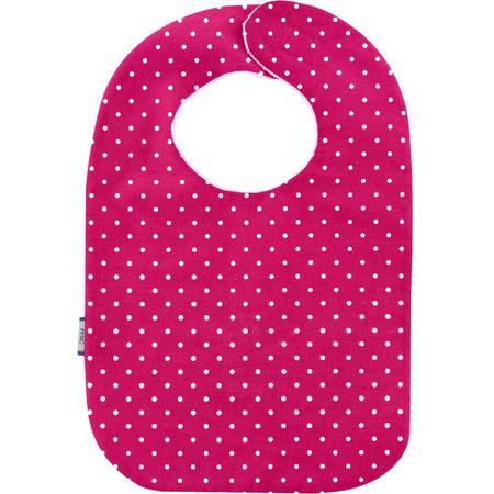 Bib - Baby size fuschia spots