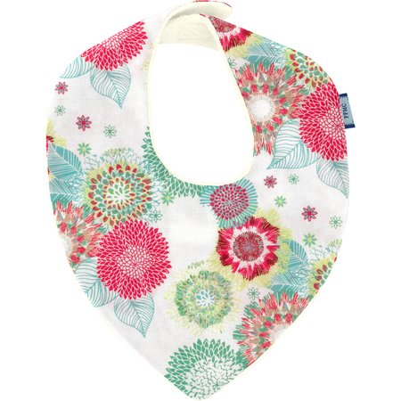 bandana bib powdered  dahlia