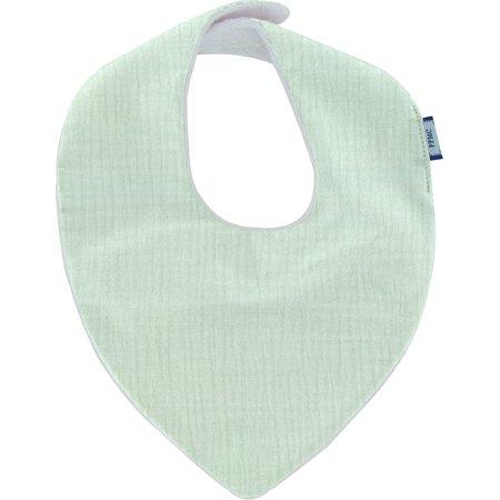 Bavoir bandana gaze vert d'eau