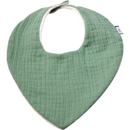 Bavoir bandana gaze vert sauge