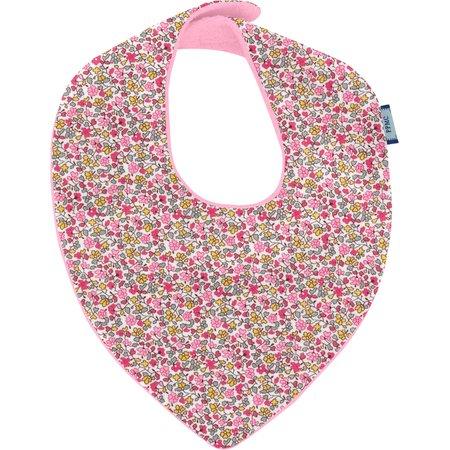 Bavoir bandana jasmin rose