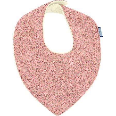 Bavoir bandana mini fleur rose
