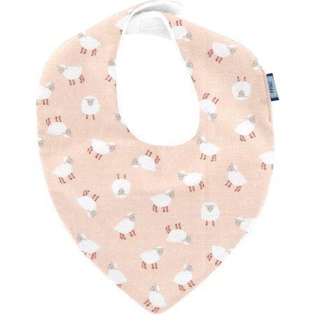 bandana bib pink sheep
