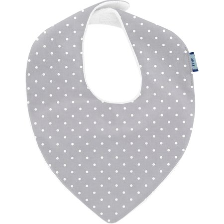 bandana bib light grey spots