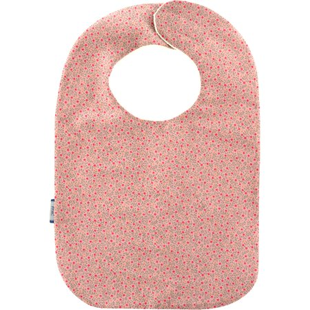 Bib - Baby size mini pink flower