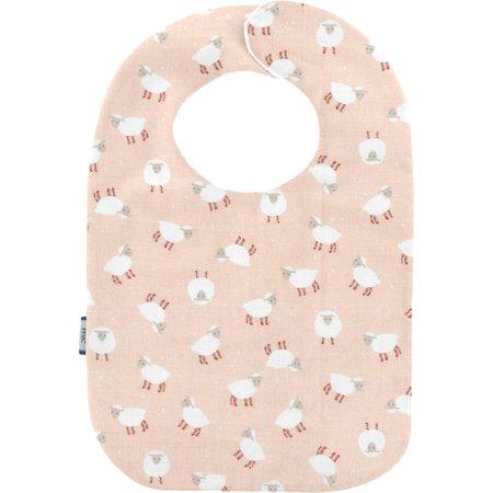 Bib - Baby size pink sheep