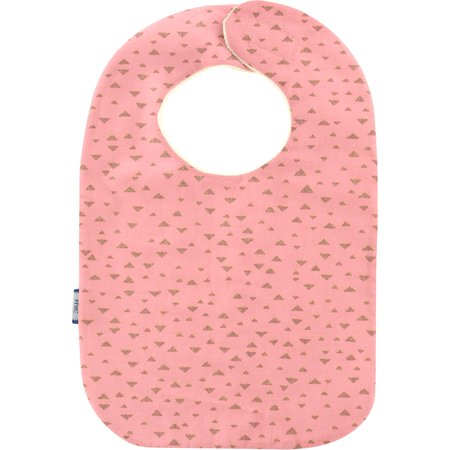 Bib - Baby size triangle or poudré