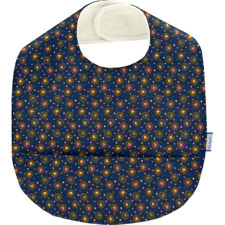 Coated fabric bib glittering heart