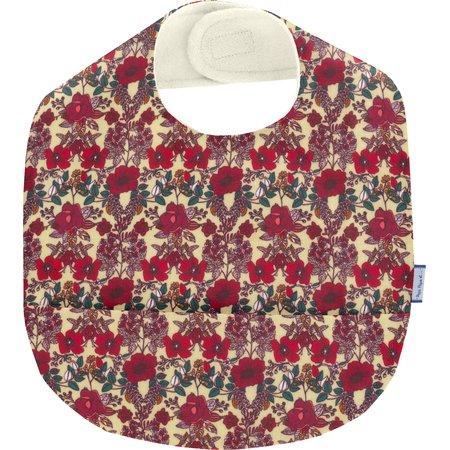 Coated fabric bib poppy