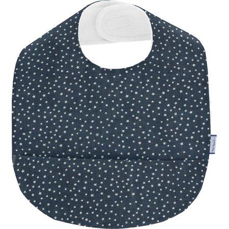 Coated fabric bib etoile argent jean