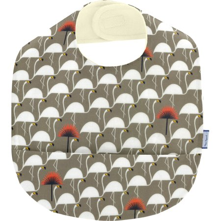 Coated fabric bib flamingo