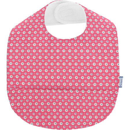 Bavoir tissu plastifié  fleurette blush