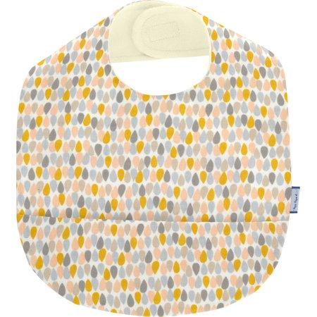 Coated fabric bib pastel drops