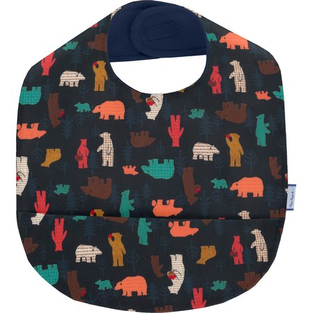 Coated fabric bib grizzly
