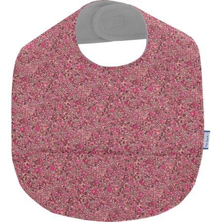 Bavoir tissu plastifié lichen prune rose