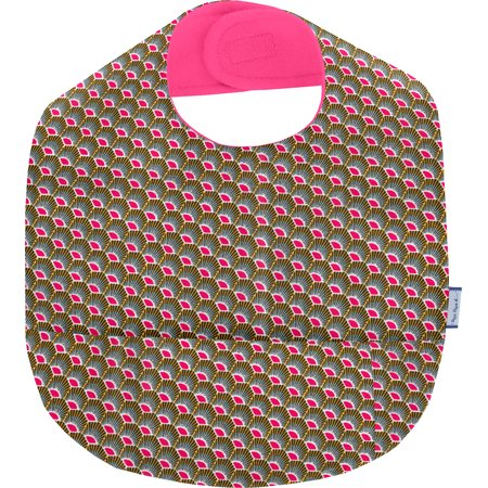 Coated fabric bib palmette