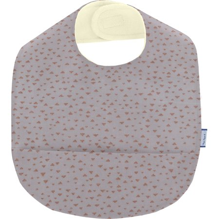 Coated fabric bib triangle cuivré gris