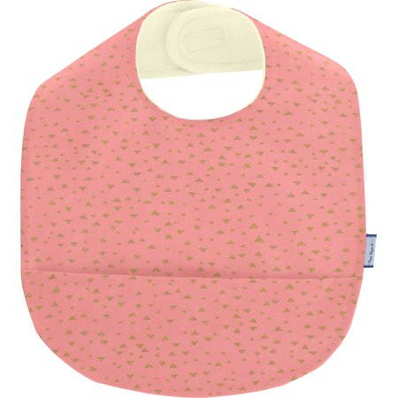 Coated fabric bib triangle or poudré
