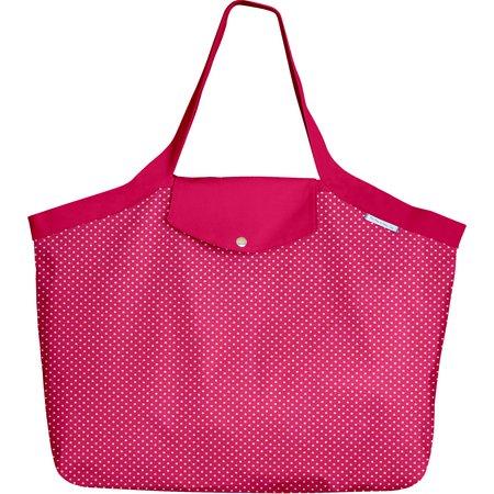 Grand sac cabas etoile or fuchsia